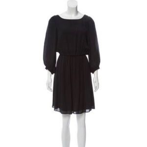 Alice + Olivia black silk dress